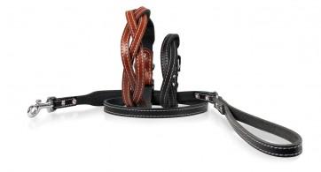 Halsband Twist braun 65cm, 35mm