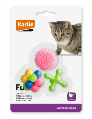 Gummi-Katzenspielzeug 3 Stück