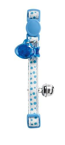 Katzenhalsband Baby Dots blau/weiß