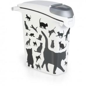 Futterbox Silhouette Katze 23l für 10kg